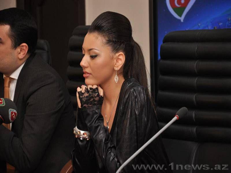 Азербайджанская участница «Евровидения 2010» встретилась с представителями СМИ